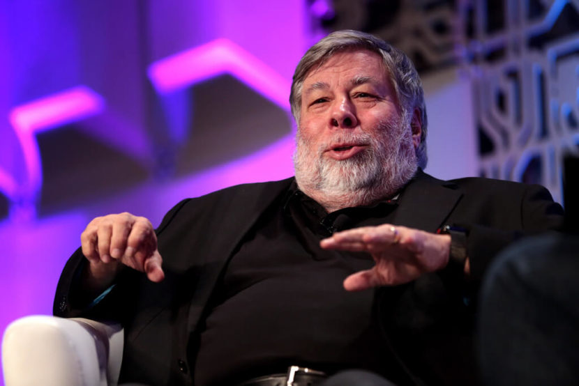 Apple's co-founder Steve Wozniak attending the We Are Developers World Congress 2018