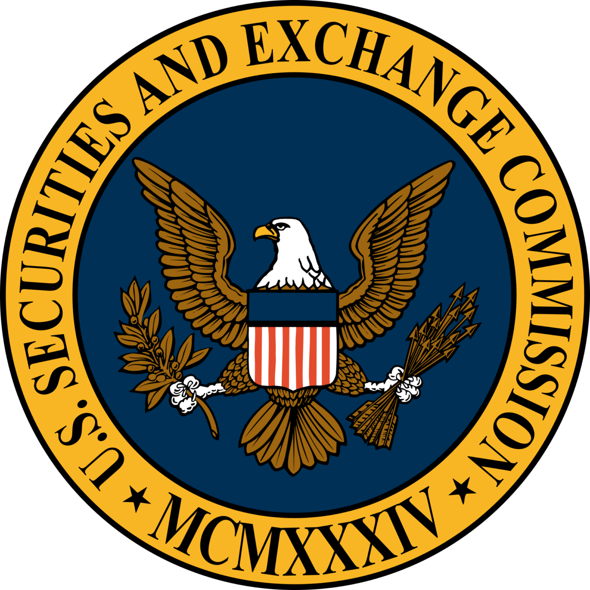 Seal of Security and Exchange Commission of the United States.