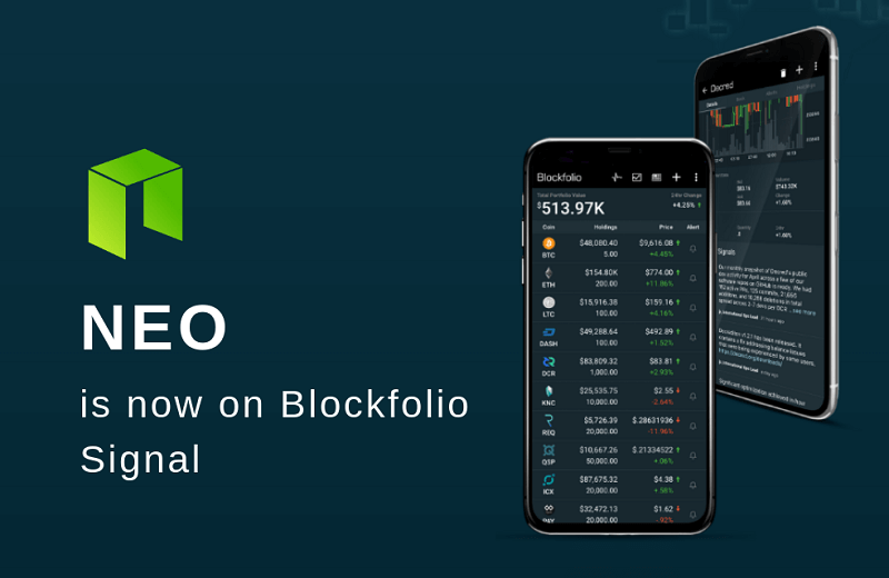 NEO is now on Blockfolio Cryptocurrency Portfolio Management App