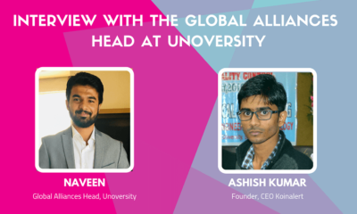 Naveen, Global Alliances Head at Unoversity, interacts with Koinalert