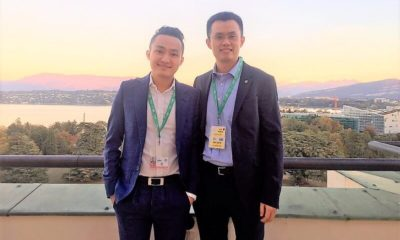 Justin Sun of TRON and CZ of Binance meet at United Nations for BCF