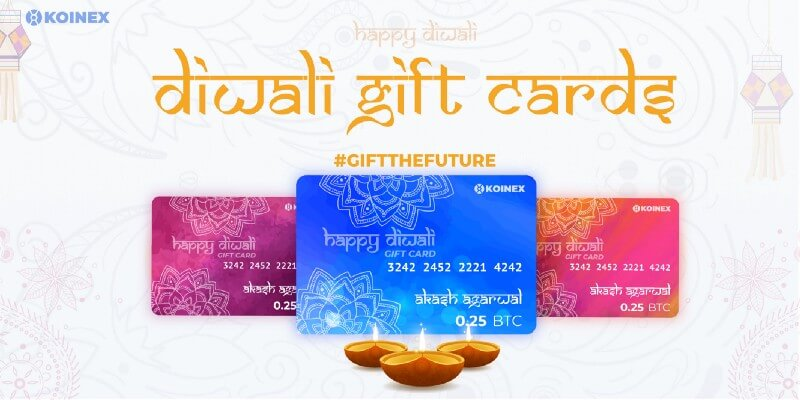 Koinex launches India's first ever Crypto Gift Cards for Diwali