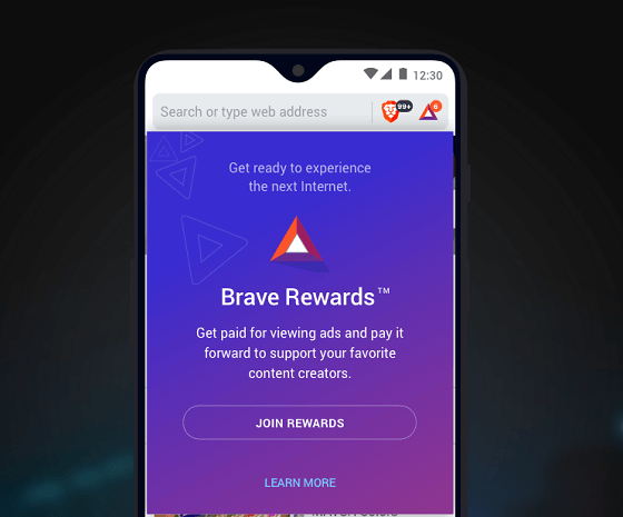 how to enable Brave Rewards feature to earn free BAT for viewing Ads