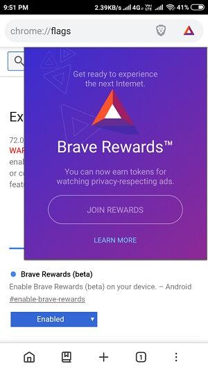 Join brave rewards