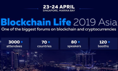 Binance and Huobi to speak at Blockchain Life 2019 in Singapore