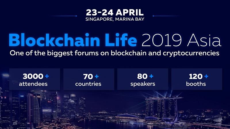 Binance and Huobi to speak at Blockchain Life 2019 in Singapore