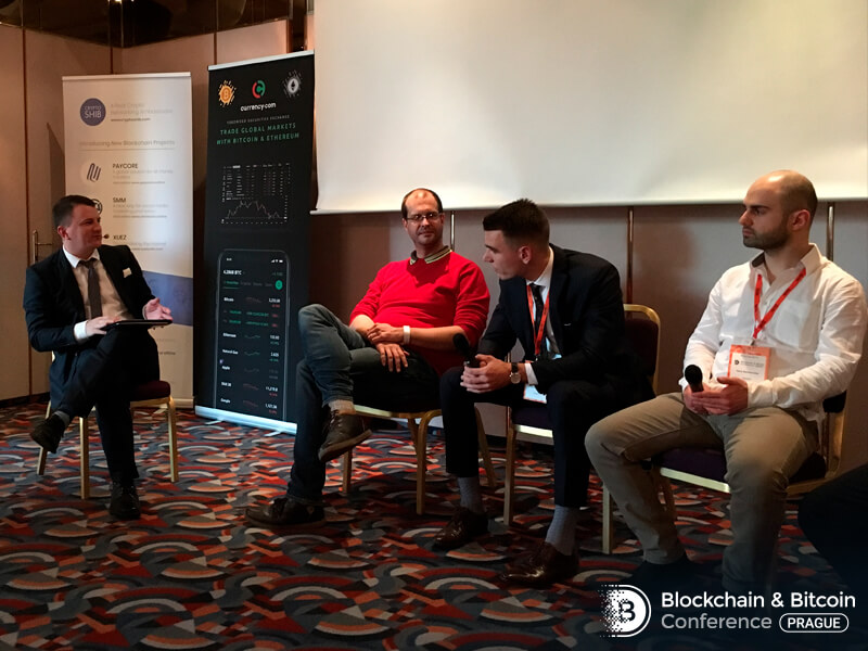 Blockchain and Bitcoin Conference Prague discussion
