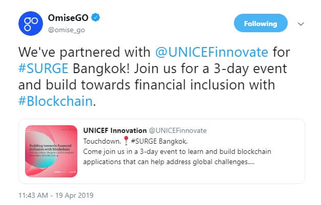 OmiseGO Partners with UNICEF Innovation