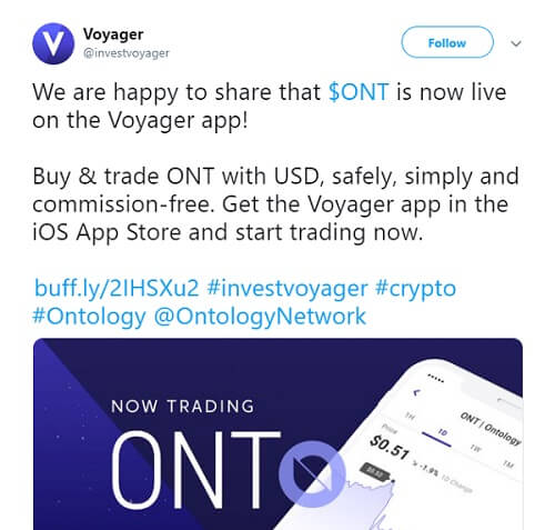 Voyager now supports Ontology (ONT)