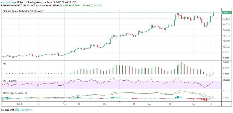 Binance Coin BNB/USD price analysis
