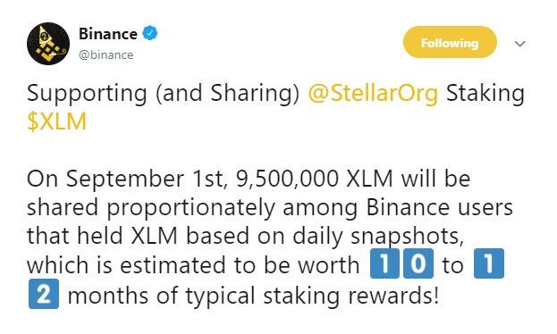 stellar stacking rewards