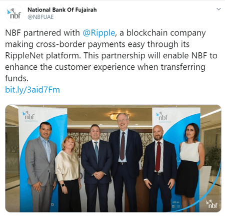 Ripple partners with major UAE bank