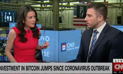 Bitcoin jumps since coronavirus outbreak